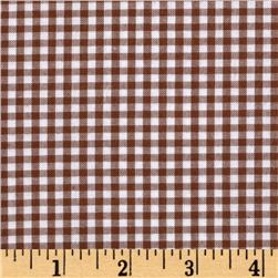 Woven 1/8'' Carolina Gingham Chocolate