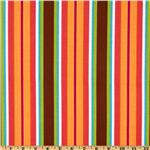 Michael Miller Ooh La La Le Stripe Spice Brown