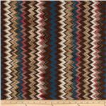 Stretch Messina Knit Chevron Brown