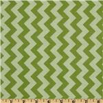 FT-929 Riley Blake Chevron Small Tonal Green