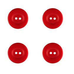 "Riley Blake Sew Together 1"" Matte Round Button Red"