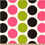 Premier Prints Fancy Dot Candy Pink/Black