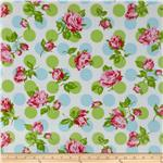 Tanya Whelan Sugar Hill Laminated Cotton Falling Rose White