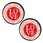 Novelty Button 3/4'' Love Red