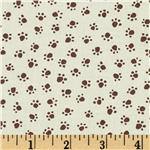 FA-790 Michael Miller Urban Grit Paw Prints Cream