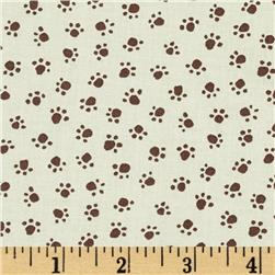 Michael Miller Urban Grit Paw Prints Cream