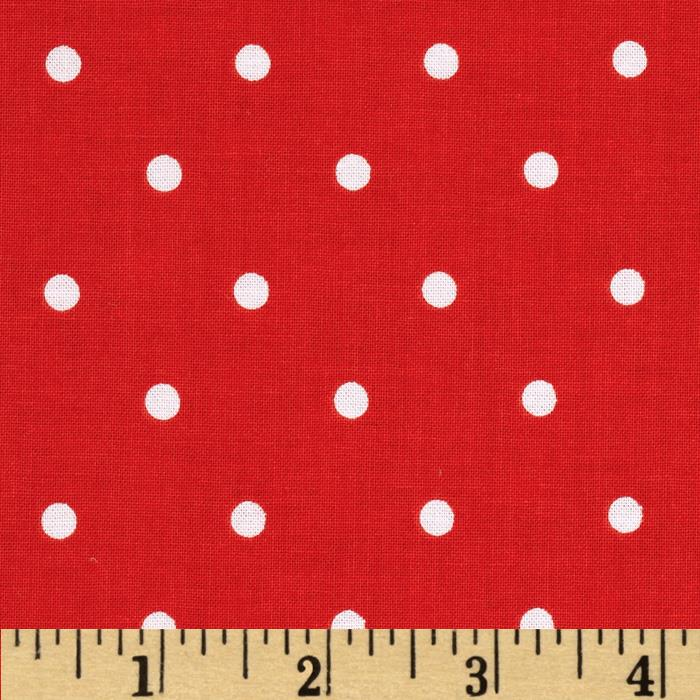 Riley Blake Maritime Modern Bubbles Dot Red