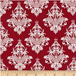 0278898 Riley Blake Remember Damask Red
