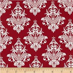 Riley Blake Remember Damask Red