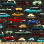 Times of Your Life Retro Cars Charcoal