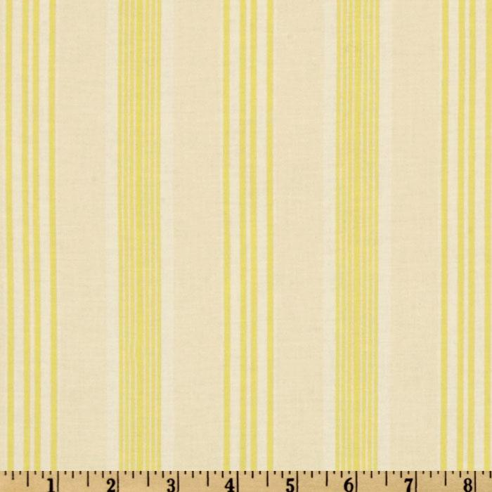 Darla Ticking Stripe Yellow