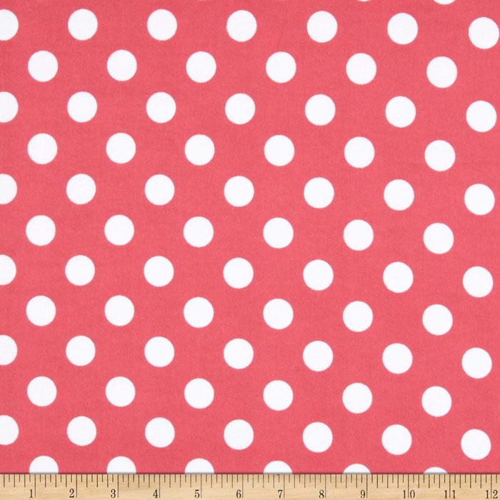 Riley Blake Flannel Basics Dots Medium Hot Pink