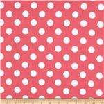 0268143 Riley Blake Flannel Basics Dots Medium Hot Pink