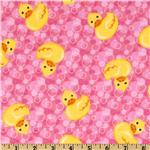 FT-527 Comfy Flannel Ducks Pink