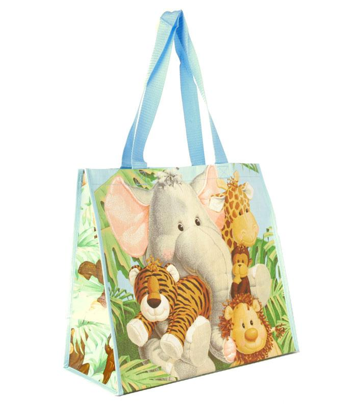 Insta-Totes Shopping Tote Jungle Babies
