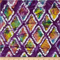 Indian Batiks Diamond Purple