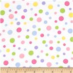 0271508 Alpine Flannel Basics Dots Pastel/White
