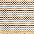 Riley Blake Hooty Hoot Returns Flannel Chevron Brown