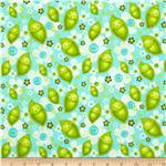 212990 Stitched Garden Peas &amp; Flowers Blue