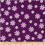 209677 Daisy Dance Flowers & Dots Purple