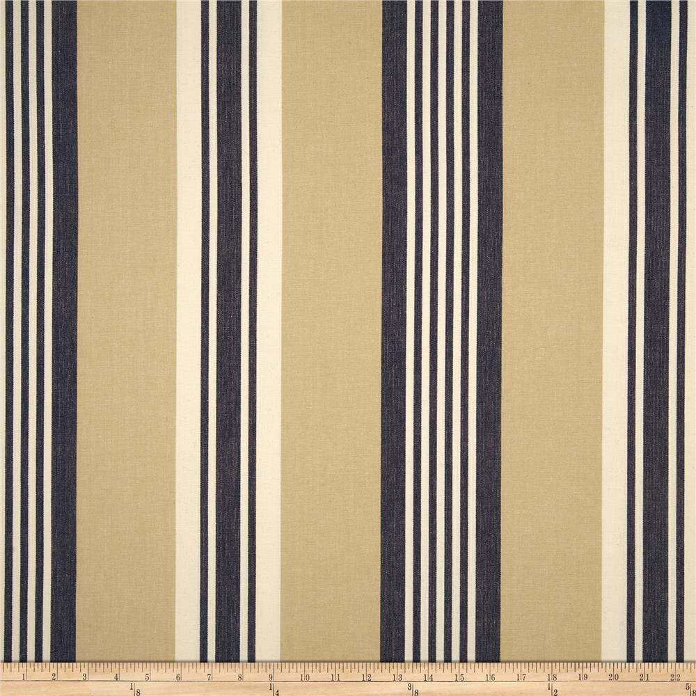 Benartex Home Athena Stripe Navy/Khaki