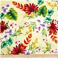 Hoffman Tropical Collection Large Floral Ivory