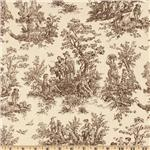 Premier Prints Jamestown Toile Brown/Natural