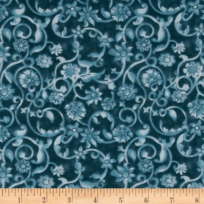 108'' Tonal Scroll Quilt Backing Quilt Backing Teal