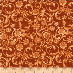108'' Tonal Scroll Quilt Backing Quilt Backing Creamsicle