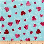 Love Flourished Hearts Aqua