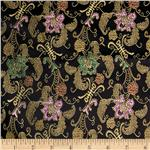 0261177 Chinese Brocade Mandarin Black