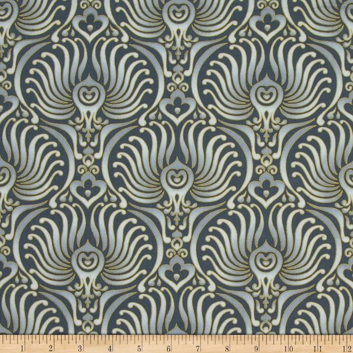 Autumn Plume Baroque Wallpaper Grey