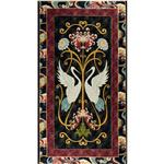 Dancing Cranes Panel Black/Mauve