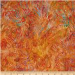 0260258 Artisan Batik: Fancy Feathers Fiesta/Orange