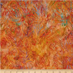 Artisan Batik: Fancy Feathers Fiesta/Orange