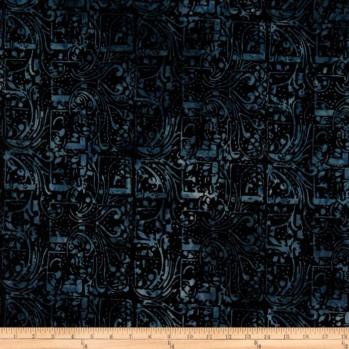 Tonga Batik Coastal Wood Block Tide Indigo
