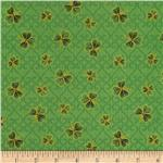Luck Of The Irish Small Shamrocks Green