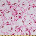 0260022 Flora Packed Magnolias Pink