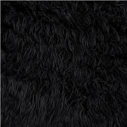 Faux Fur Mongolian Black