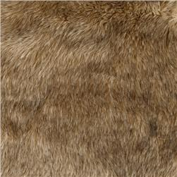 Faux Fur Jack Rabbit Fur Brown
