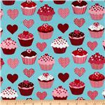 Confections Cupcakes &amp; Hearts Aqua