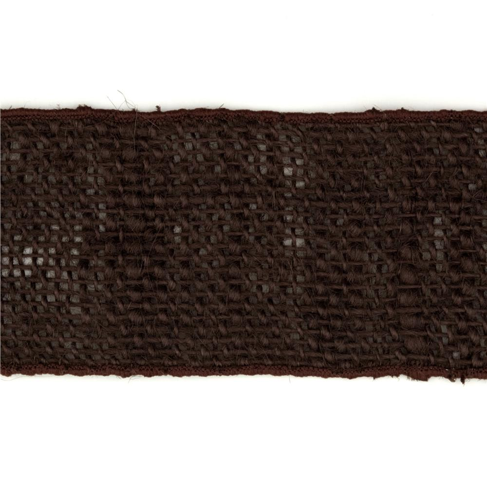 2 1/2'' Wired Burlap Ribbon Brown