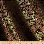Chinese Brocade Dragon Flower Brown