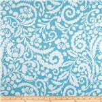 Tea Garden Sateen Home Dcor Silhouette Blue