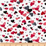 Valentine Hearts Allover White