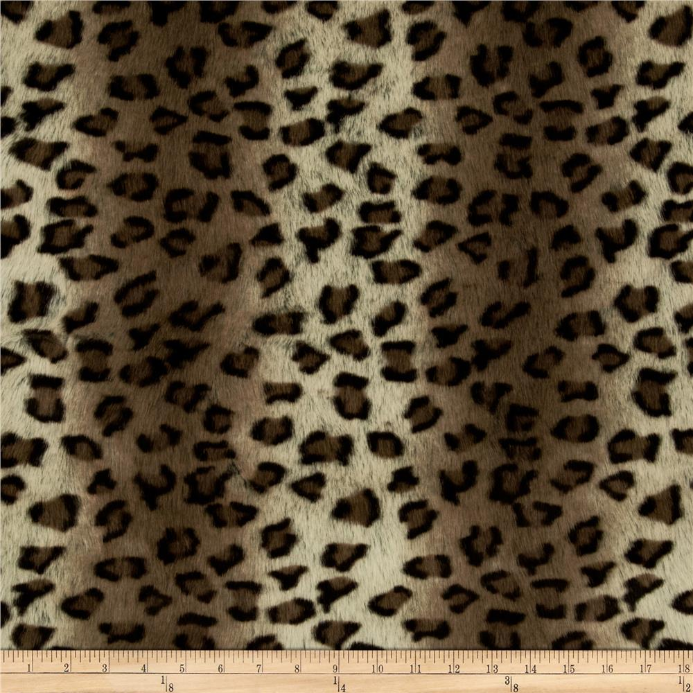 Faux Fur African Leopard Grey/Black