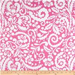 Tea Garden Sateen Home Décor Silhouette Fuchsia