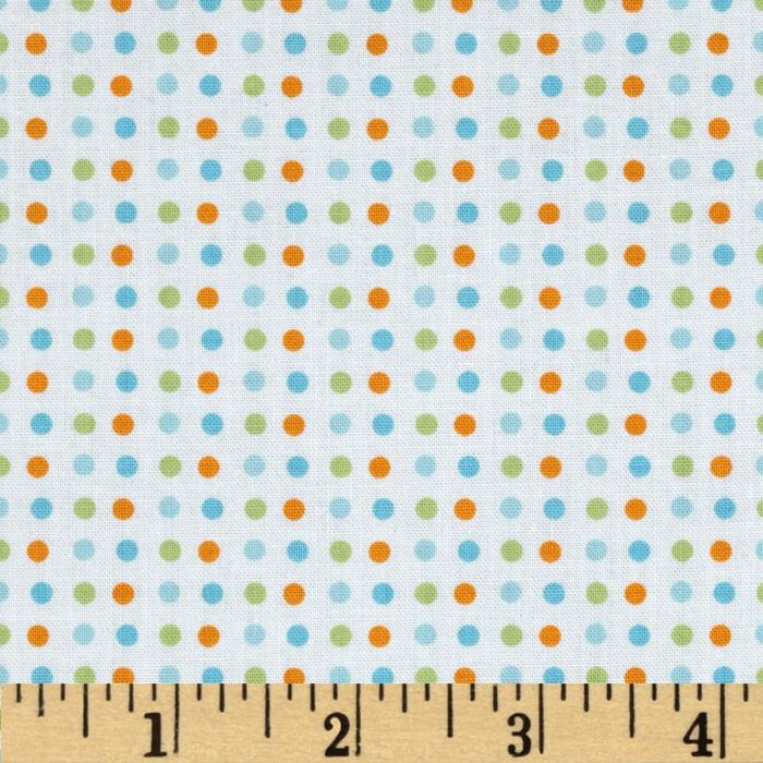 Baby Birds Dot Blue Multi
