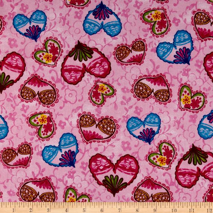 Pretty In Pink Hearts & Flowers Pink