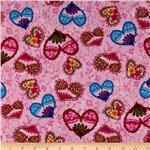 0260803 Pretty In Pink Hearts & Flowers Pink